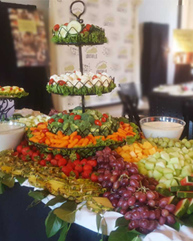 Fresh Fruit and Vegetables Display, Catering Company, Louisville, KY