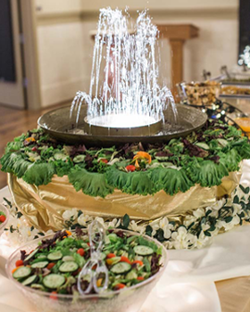 Garden Fountain for Salad, Fruit or Vegetable Display
