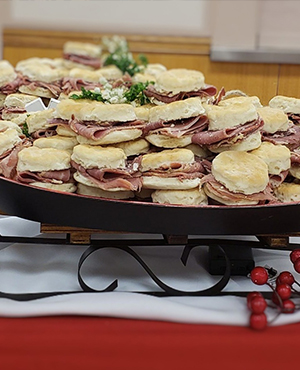 Country Ham on Biscuits on Sled small image
