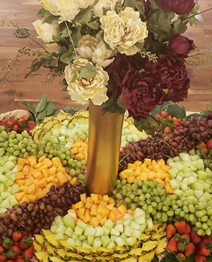 Fruit Display Burgundy Gold Cream at Noahs small image